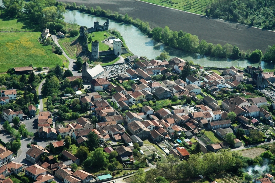 Bellocq, vue aérienne