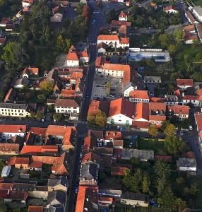 Garlin, vue aérienne
