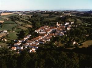 La Bastide Clairence, vue aérienne