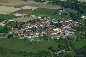 Labastide-Villefranche, vue aérienne