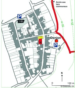Labastide-Villefranche, le plan.
