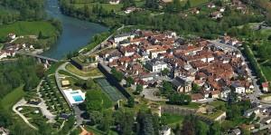 Navarrenx, vue aérienne
