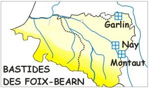 Carte Béarn 1310