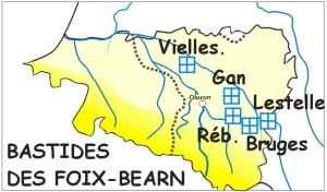 Carte Béarn 1350